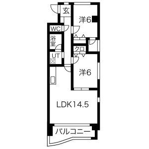2LDK Mansion in Makinosato - Nagoya-shi Meito-ku Floorplan