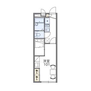 1K Apartment in Nakagawara - Tsu-shi Floorplan