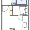 1K 아파트 to Rent in Ebina-shi Floorplan