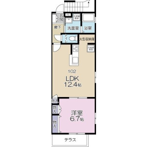 1LDK Mansion in Seki - Kawasaki-shi Tama-ku Floorplan