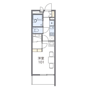 1K Apartment in Narashino - Funabashi-shi Floorplan