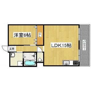 1LDK Mansion in Terauchi - Toyonaka-shi Floorplan
