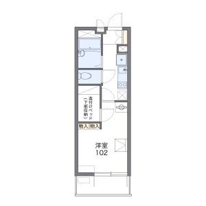 橫濱市南區前里町-1K公寓 房間格局