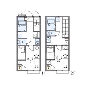 1K Apartment in Kumochicho - Kobe-shi Chuo-ku Floorplan
