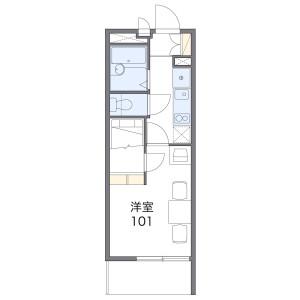 中野区野方-1K公寓 楼层布局