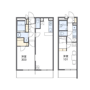 1LDK Mansion in Kasuya - Setagaya-ku Floorplan