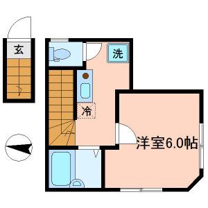 1K Apartment in Kitazawa - Setagaya-ku Floorplan