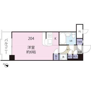 1K Mansion in Senju tatsutacho - Adachi-ku Floorplan