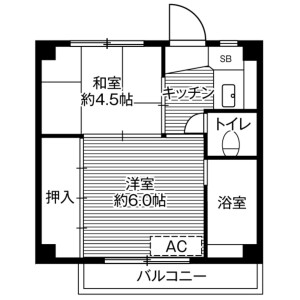2K Mansion in Nakanojo - Hanishina-gun Sakaki-machi Floorplan