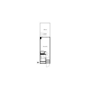新宿區下落合-1R公寓大廈 房間格局