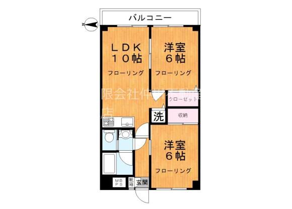 2LDK Apartment to Rent in Adachi-ku Floorplan