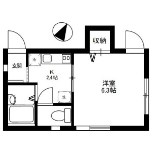 1K Apartment in Kamiikebukuro - Toshima-ku Floorplan