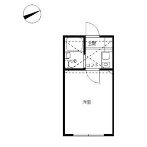 1R Apartment in Naritahigashi - Suginami-ku Floorplan