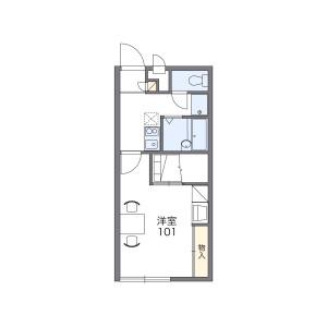 1K Mansion in Osaka - Osaka-shi Tennoji-ku Floorplan