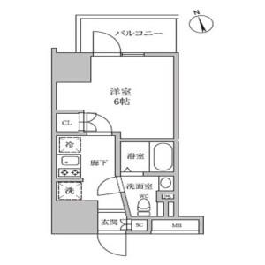 1K Mansion in Kamata - Ota-ku Floorplan
