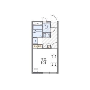 1K Apartment in Kaminocho - Nishinomiya-shi Floorplan