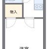 1K 아파트 to Rent in Warabi-shi Floorplan