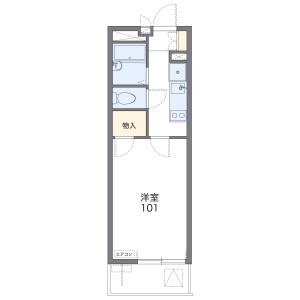 1K 아파트 in Chuo - Warabi-shi Floorplan