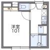 1K Apartment to Rent in Niigata-shi Chuo-ku Floorplan