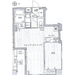 1LDK Mansion in Asakusa - Taito-ku Floorplan