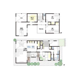 4LDK {building type} in Mino - Mino-shi Floorplan