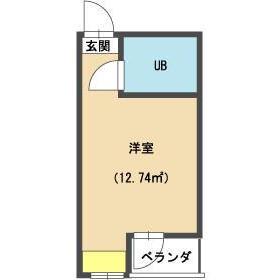 1R Mansion in Hanegi - Setagaya-ku Floorplan