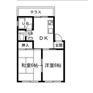 2DK Mansion in Tsukamoto - Osaka-shi Yodogawa-ku Floorplan