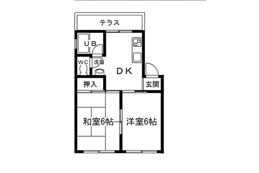2DK Apartment to Rent in Osaka-shi Yodogawa-ku Floorplan