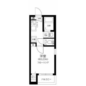 1K Apartment in Higashimagome - Ota-ku Floorplan