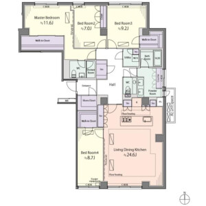 4LDK Mansion in Mejirodai - Bunkyo-ku Floorplan