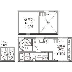 1SK Mansion in Hongo - Bunkyo-ku Floorplan