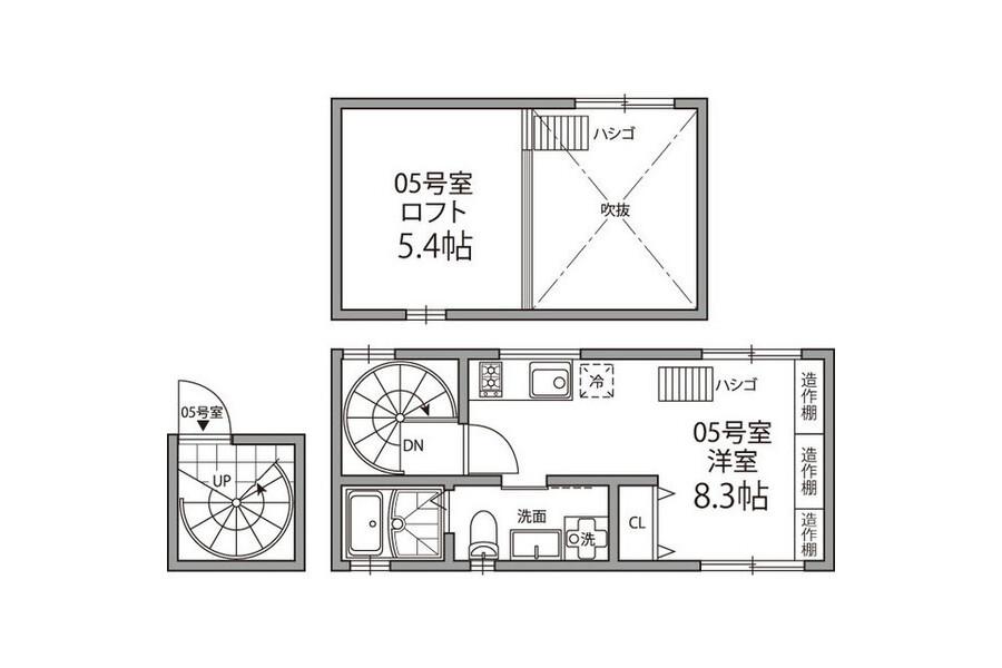 1SK Apartment to Rent in Bunkyo-ku Floorplan