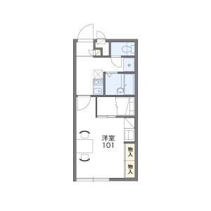 1K Apartment in Atagocho - Sasebo-shi Floorplan