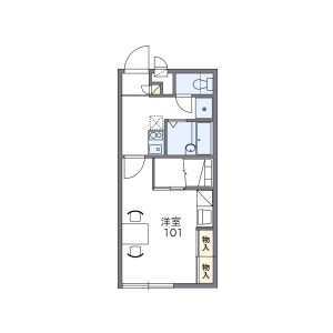 1K Apartment in Fujigokoro - Kashiwa-shi Floorplan