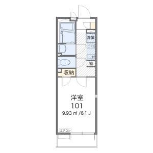 川口市芝下-1K公寓 楼层布局