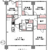 在尼崎市购买4SLDK 公寓大厦的 楼层布局
