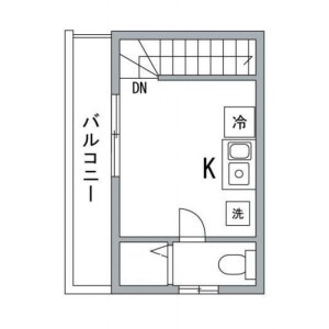 1R Apartment in Nakameguro - Meguro-ku Floorplan