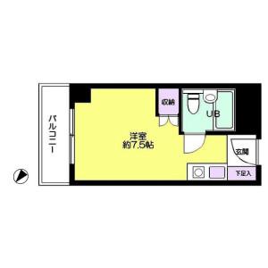 1R Mansion in Koishikawa - Bunkyo-ku Floorplan