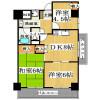 3LDK Apartment to Rent in Osaka-shi Higashisumiyoshi-ku Floorplan
