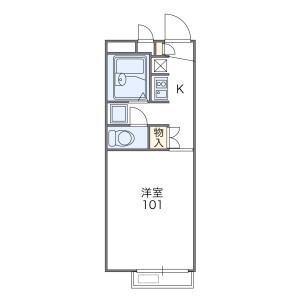1K Apartment in Makino kitamachi - Hirakata-shi Floorplan