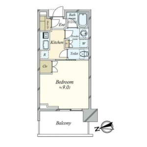 港区浜松町-1K公寓大厦 楼层布局