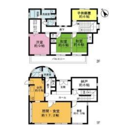 4LDK {building type} in Nishiwaseda(2-chome1-ban1-23-go.2-ban) - Shinjuku-ku Floorplan