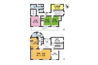 4LDK House to Buy in Shinjuku-ku Floorplan
