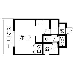 1R Mansion in Hattahommachi - Nagoya-shi Nakagawa-ku Floorplan