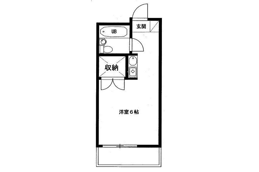 1R Apartment to Buy in Tokorozawa-shi Floorplan