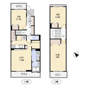 3LDK Mansion in Kitaterao - Yokohama-shi Tsurumi-ku Floorplan