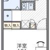 1K Apartment to Rent in Oyama-shi Floorplan