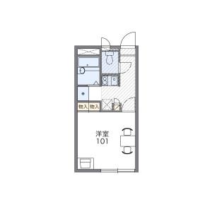 1K Apartment in Ekiminamicho - Oyama-shi Floorplan