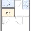 1K Apartment to Rent in Kyoto-shi Sakyo-ku Floorplan