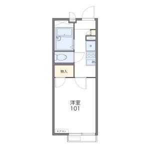 1K Apartment in Iwakura hanazonocho - Kyoto-shi Sakyo-ku Floorplan